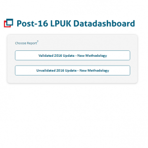 Our Post-16 LPUK Datadashboard Validated 2016 Update is NOW LIVE