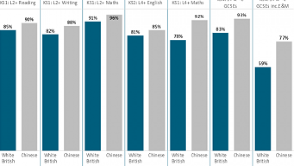 Latest blog and Big Numbers: Attainment gap between pupils of Chinese and White British origin